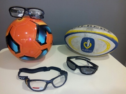 Lunettes sports collectifs
